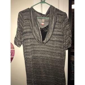 No boundaries lace cowl neck blouse sz XXL
